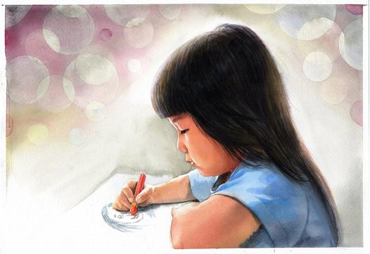 watercolor-portrait-girl